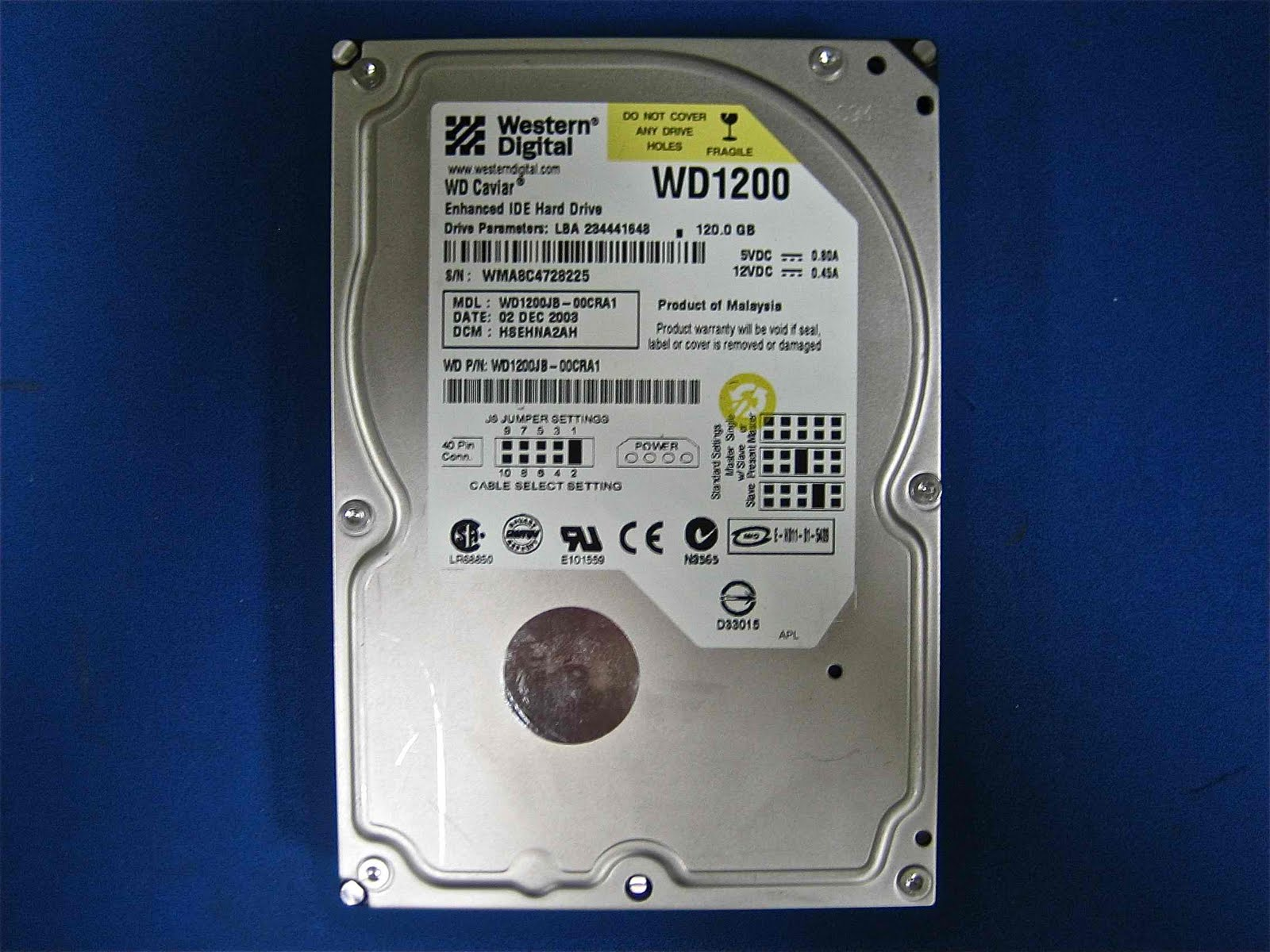 WESTERN DIGITAL WD1200 IDE 3 5